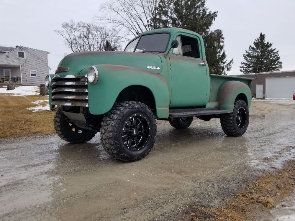 medium resolution of this 1951 chevrolet 3100 truck is for sale on ebay with a current bid of 21 500 located in watertown wisconsin the custom truck rides on a 2000 chevy s10