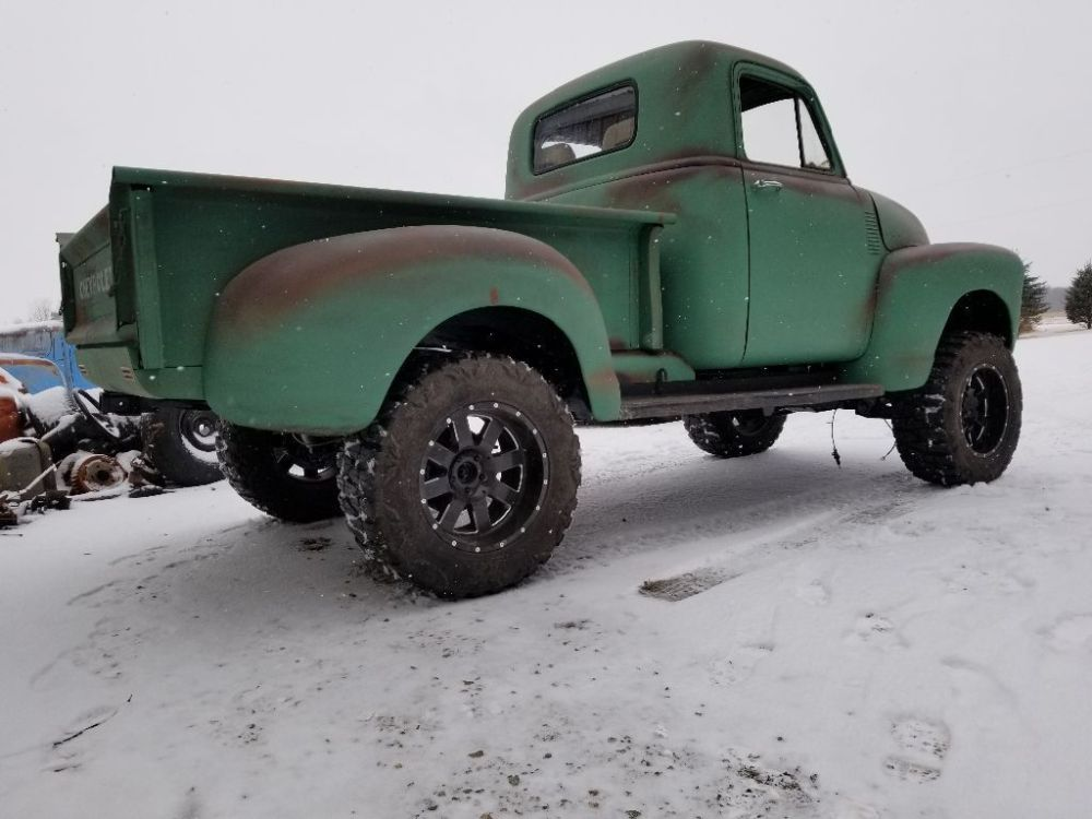 medium resolution of the truck has a lot of new parts such as aluminum radiator stainless steel exhaust and brake lines brakes wiring and fuel tank 1951 chevrolet