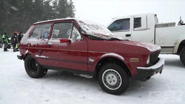 1988 Yugo GV with a LSx V8