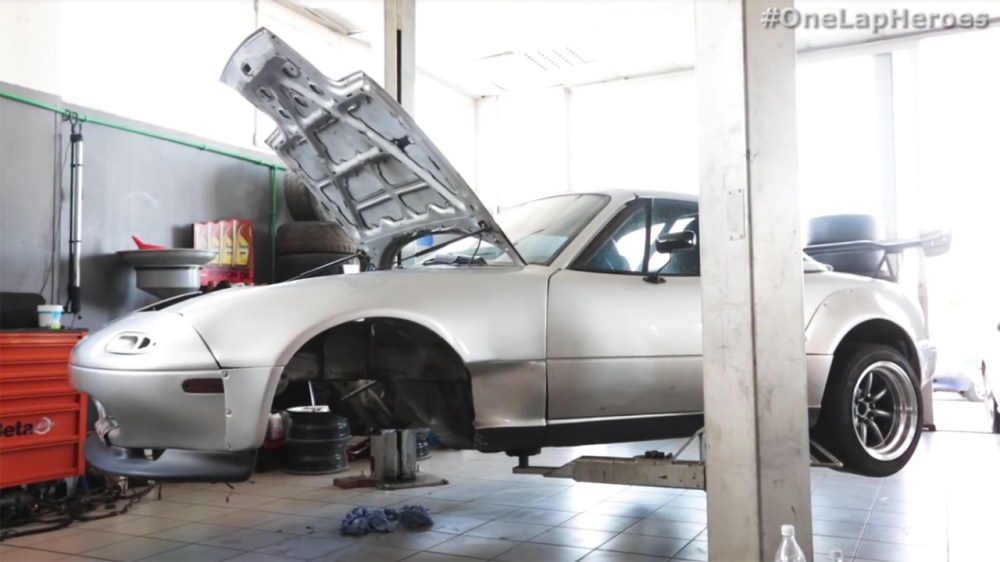 medium resolution of konstantinos sidiras from one lap heroes is upgrading his 1991 mazda mx 5 with an engine swap the first video explains he was originally going to use a lsx