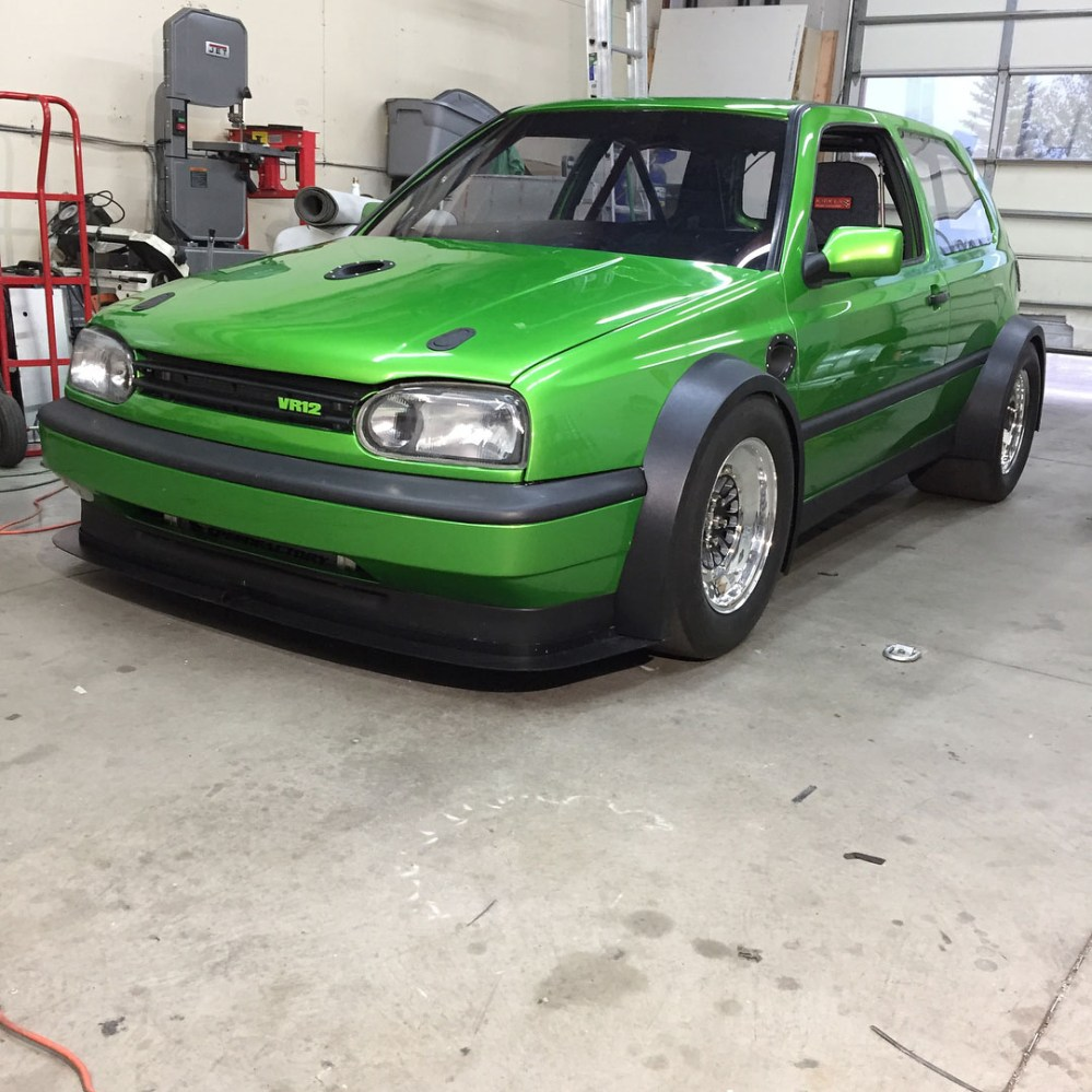 medium resolution of on the front and back of this volkswagen golf mk3 is a badge that says vr12 that s because this hatch has one vr6 in the front and one vr6 in the back