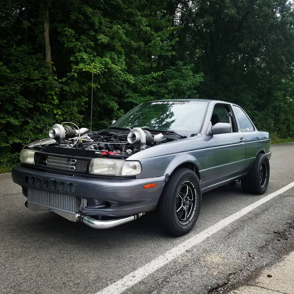 medium resolution of aaron converted the car to rear wheel drive using chevy and 240sx parts the engine is a 5 3 l lsx v8 with two turbochargers
