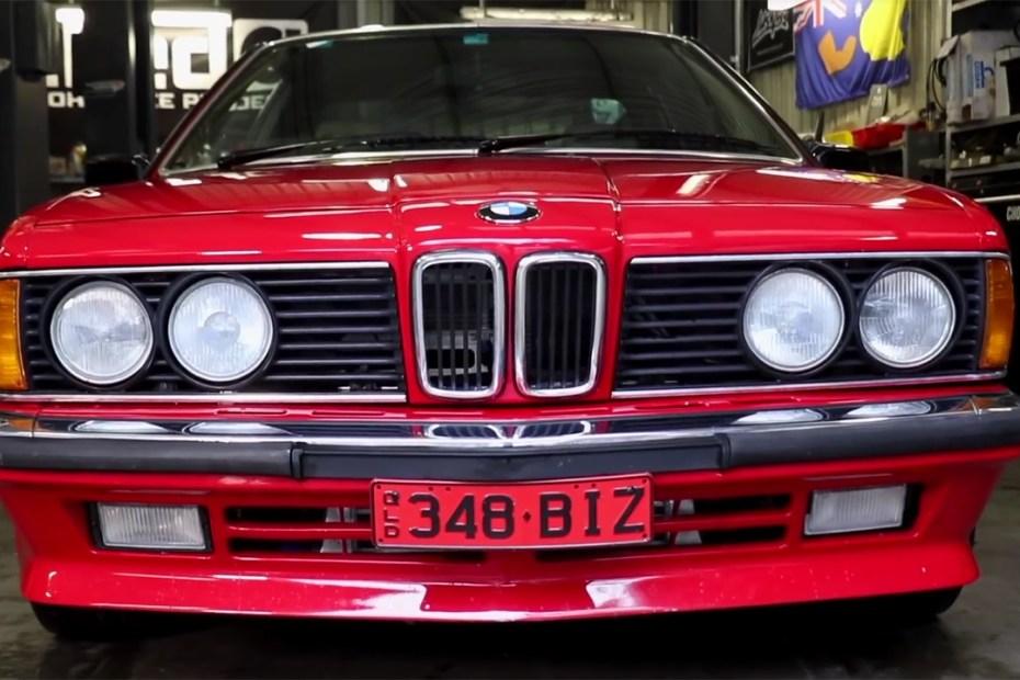 1986 BMW 635CSi with a turbo 2JZ inline-six