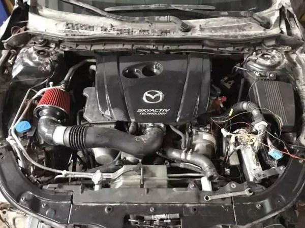 2016 Mazda 6 with a 3UZ V8 and RWD drivetrain
