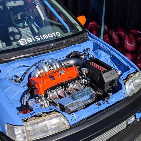 1991 Civic Wagon with a turbo K24 and AWD drivetrain