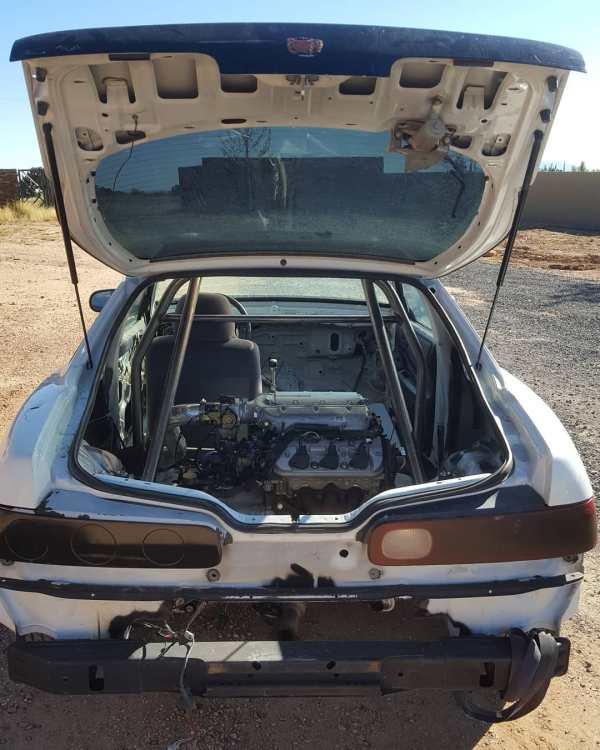 Acura Integra with a mid-engine J32 V6