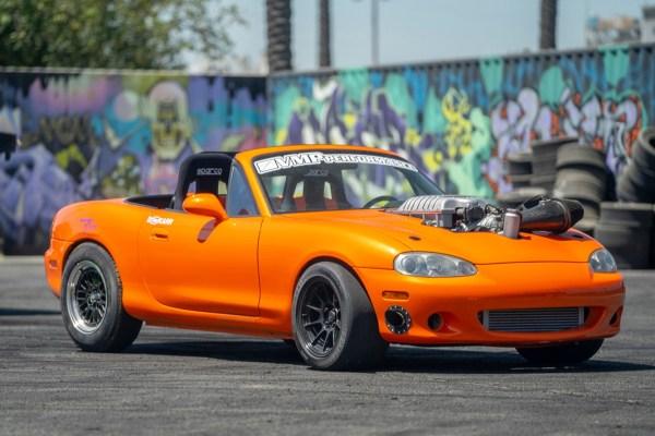 Mazda Miata with a supercharged Hellcat V8