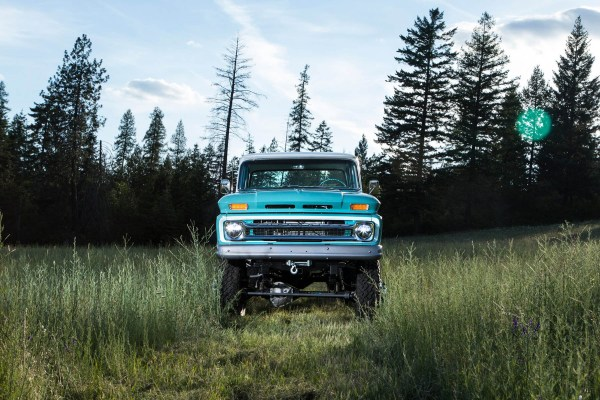 1966 Chevy truck with a 6BT turbo diesel inline-six