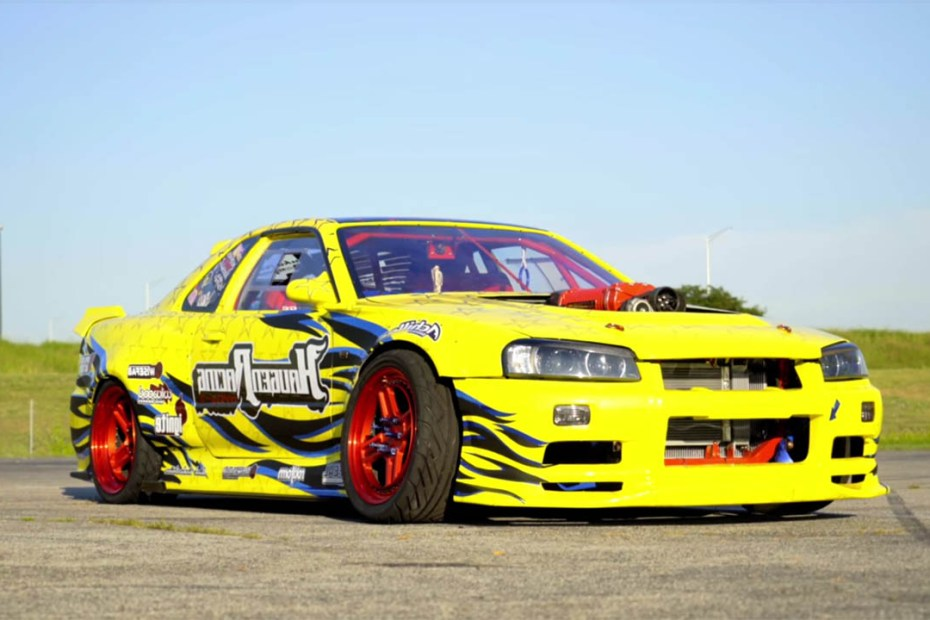 Nissan R34 Skyline with a supercharged LS3 V8