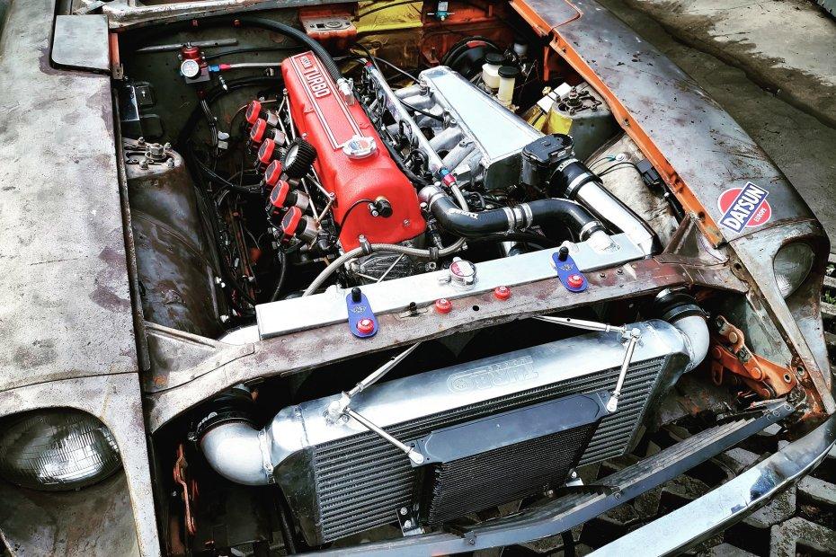 Datsun 240Z with a turbo L28ET inline-six