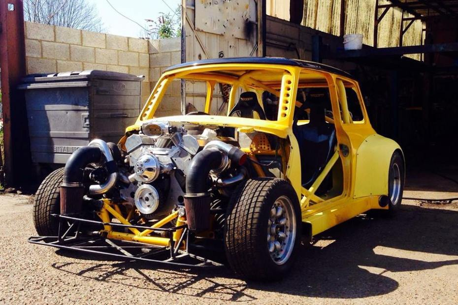 Mini with a Twin-Turbo Chevy V8