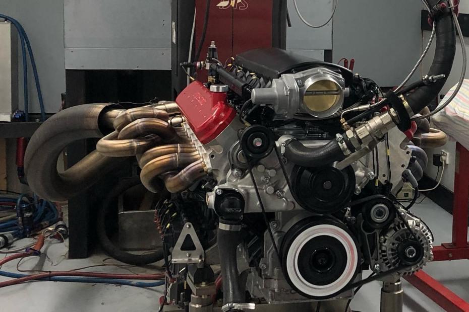 9.5 L LSx V12 on the dyno