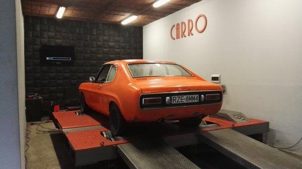 1970 Ford Capri with a 4.6 L V8