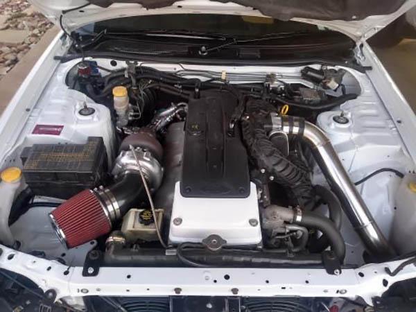 Nissan R34 Skyline with a turbo Barra inline-six