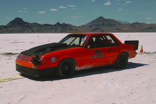 1984 Mustang with a Turbo Mercury Flathead V8