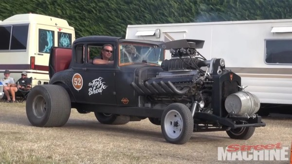 Model A Hot Rod with a Supercharged 27.0 L Meteor V12