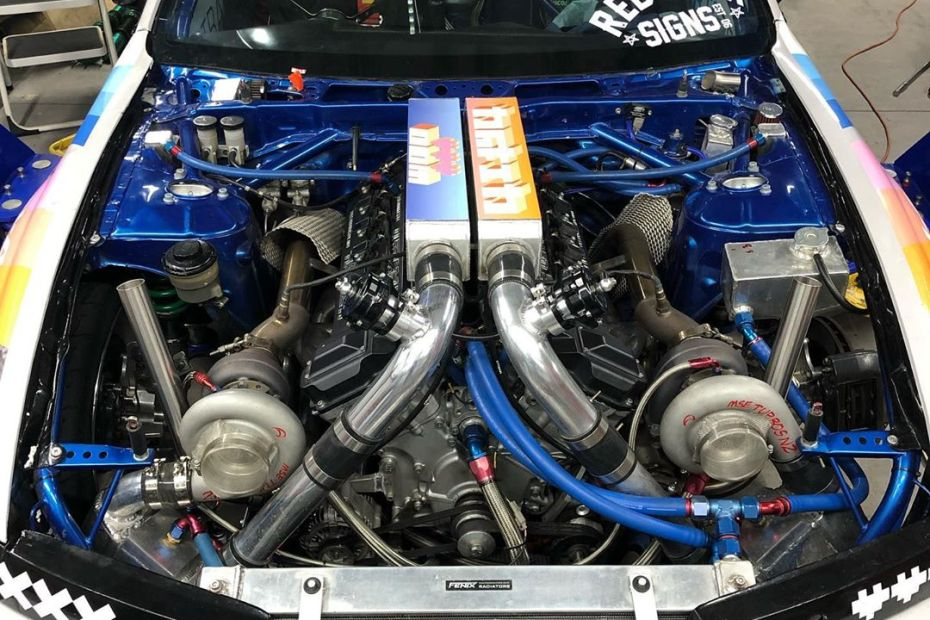 Jaron Olivecrona Nissan S14 with a twin-turbo 1GZ V12