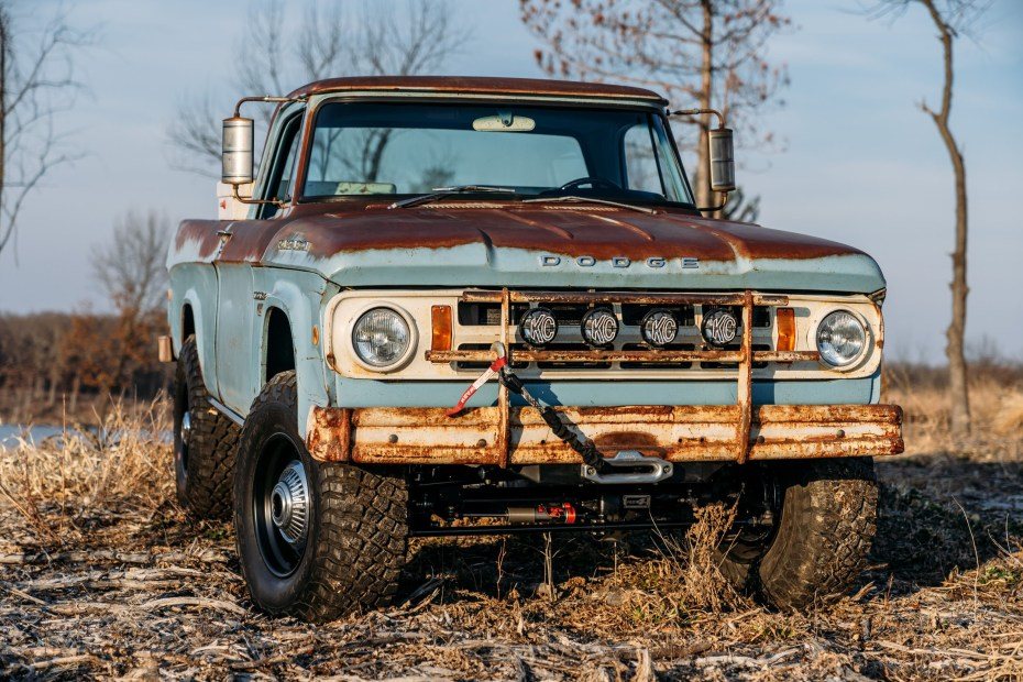 1968 Dodge Power Wagon with a supercharged Hellcat V8