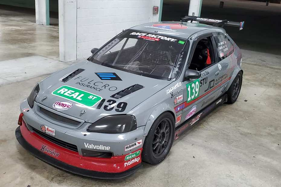 Racefactory Civic EK with a K24 inline-four