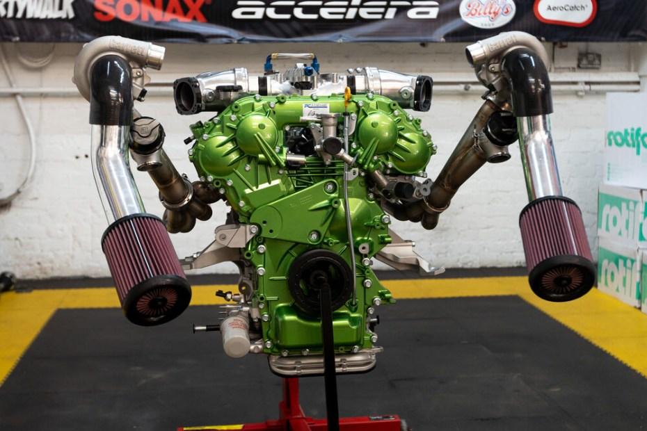 twin-turbo 4.1 L VR38 V6 going into Steve Biagioni Nissan Navara