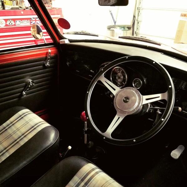1976 Mini Clubman built by Mcgee's Custom Minis with a Honda D16 inline-four