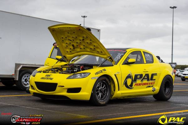Kevin Awadsn's Mazda RX-8 built by PAC Performance with a turbo 20B three-rotor
