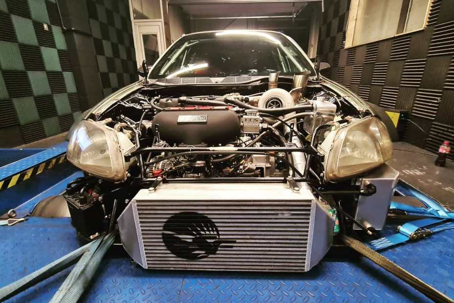 Civic EK9 with a turbo K20 inline-four and AWD drivetrain