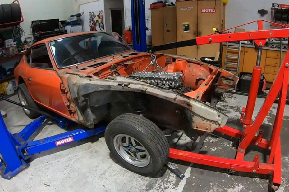 Strange Workshop Datsun 240Z with a 2JZ-GTE inline-six