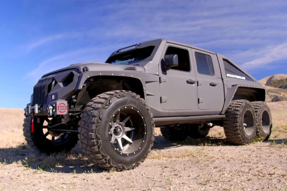 Apocalypse Hellfire custom Jeep Gladiator 6x6 with a LS3 V8