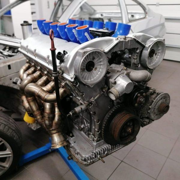 BMW E30 with a Turbo M70 V12