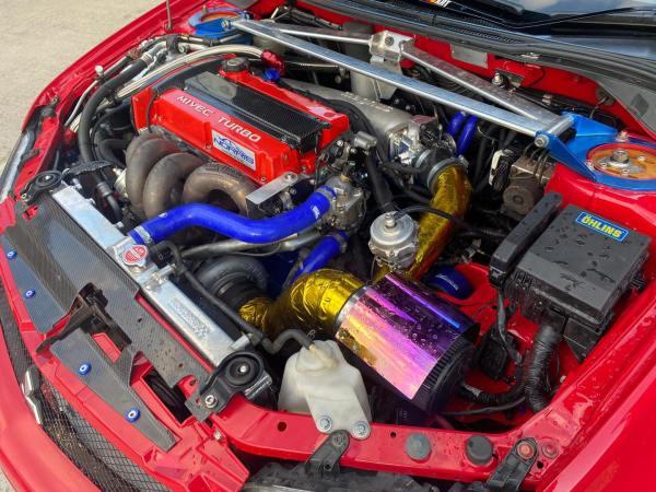 Mitsubishi Evo 9 with a turbo 4G64 inline-four