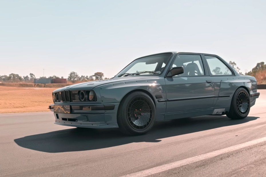 BMW E30 built by Ace Customs with a Supercharged Toyota 1UZ V8