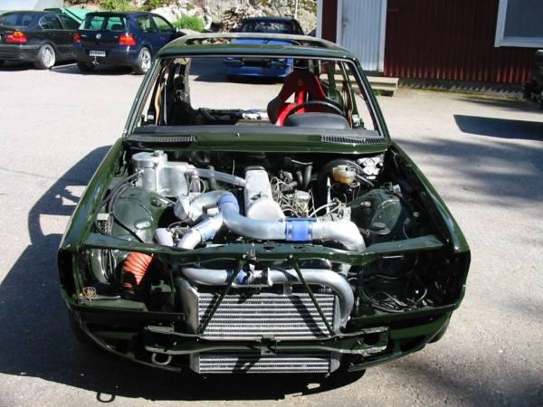 Mercedes W123 built by Valtonen Motorsport with a turbo OM617 inline-five