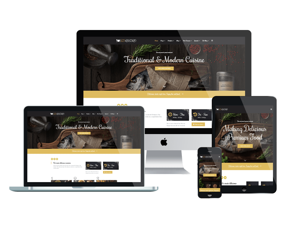 ET Rustro Free Responsive Bars Cafe Restaurants Joomla Templates