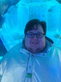 Ice thrown selfie