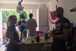 Kitchen full of people