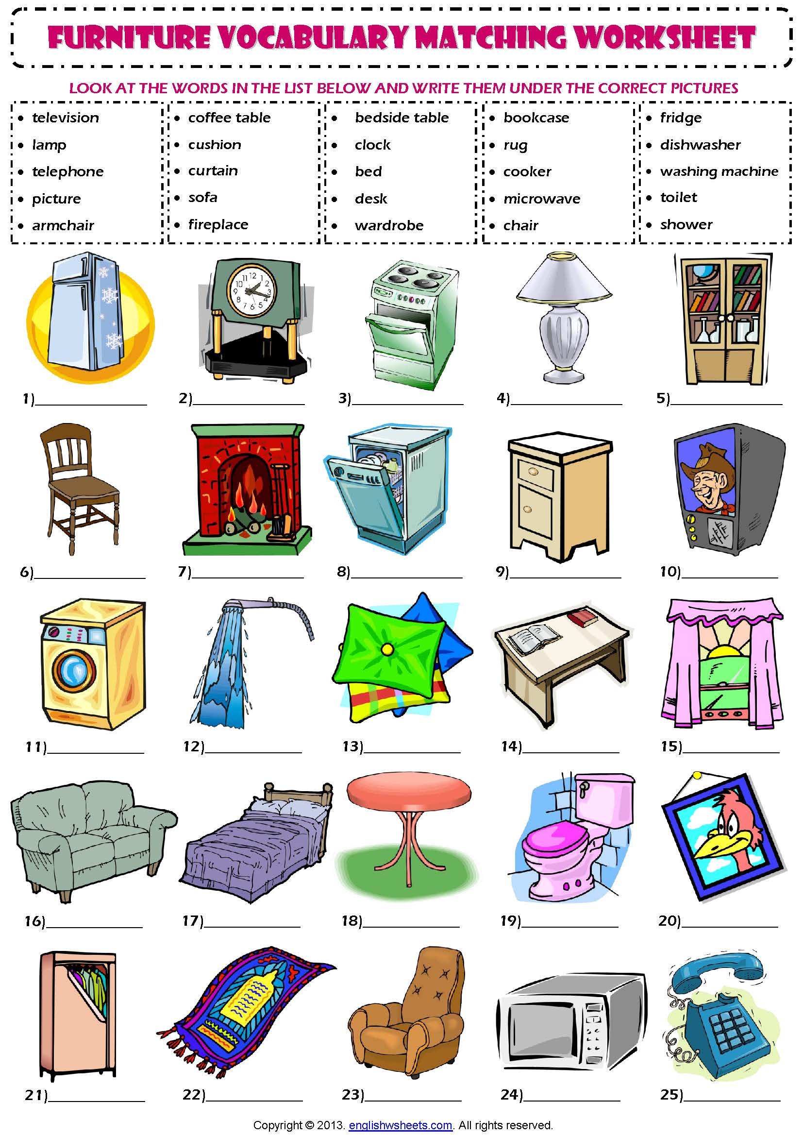 Living Room Furniture Vocabulary List Ideasidea Part 82