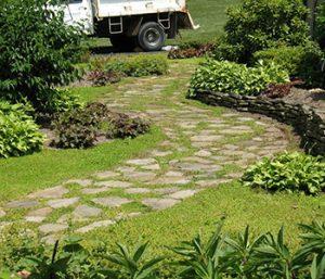 natural stone garden paths