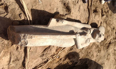 Newly discovered Sekhmet statue