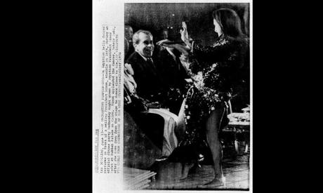 Soheir performing during Nixon's visit to Egypt