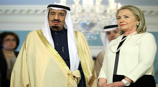 Hillary Clinton and Sauid King Salman