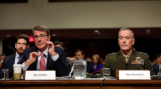 War Secretary Ash Carter and General Joseph Dunford
