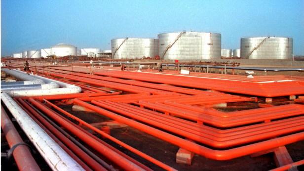 An Iranian oil refinery