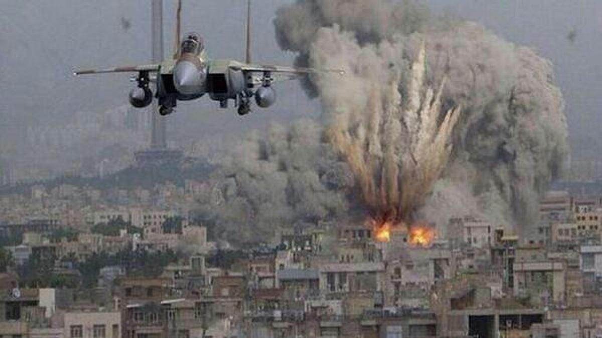 Zionist warplanes bombing Gaza (File Photo)
