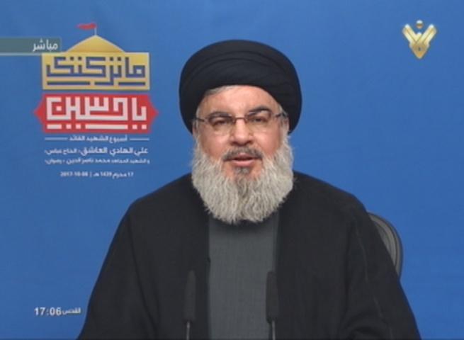 Hezbollah Secretary General Sayyed Hasan Nasrallah on Oct 8, 2017