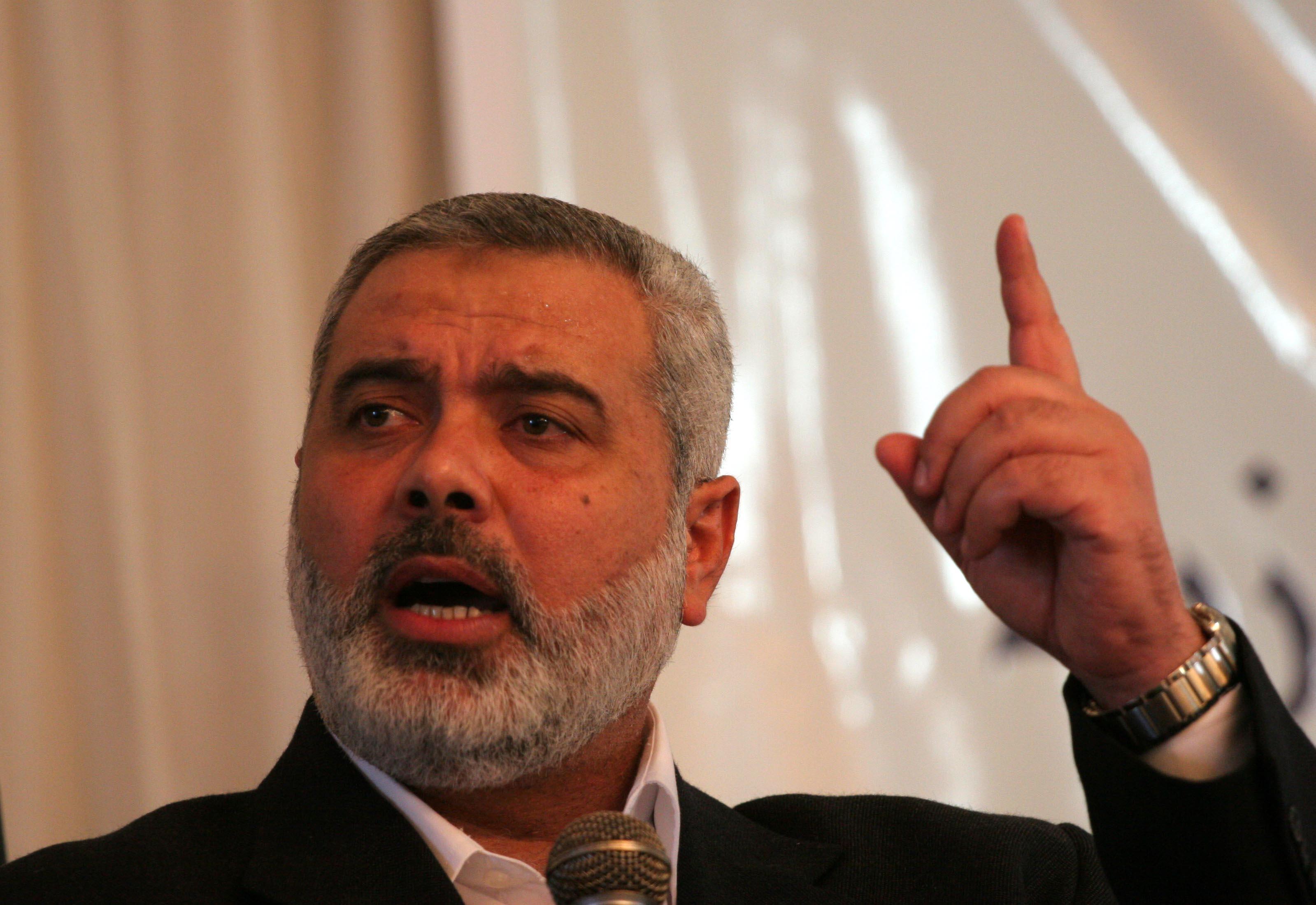 Head of Hamas's politburo Ismail Haniyeh