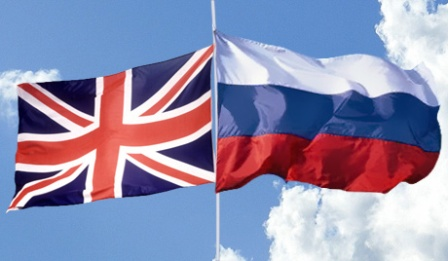 Russia UK flags