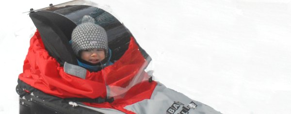 Baby Cross Country Skiing Sled