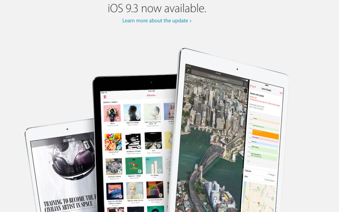 Apple Pulls iOS 9.3.2 Update for 9.7-Inch iPad Pro