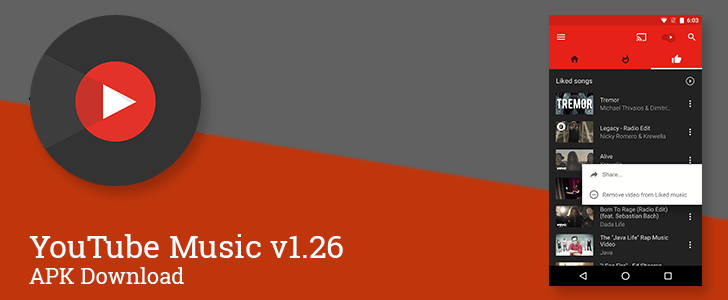 YouTube Music v1.26 Brings YouTube Playlists To The Likes Tab And Makes A Few Visual Adjustments [APK Download]